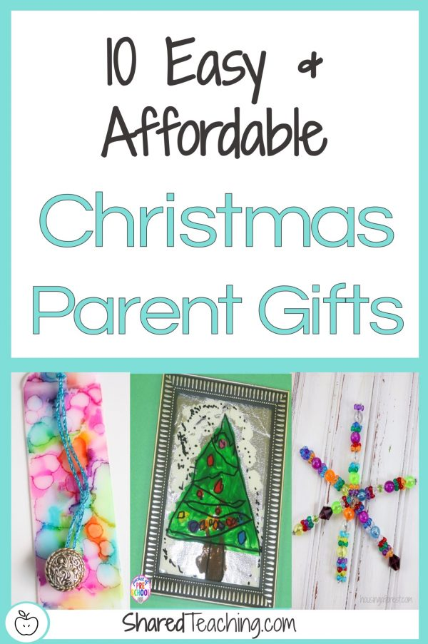 10 Easy and Affordable Christmas Gifts for Parents I Save time figuring out what students can make and give their parents this Christmas that are simple and cheap. Click through to get 10 ideas today!