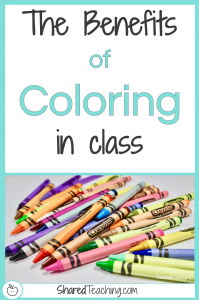 The Benefits of Coloring in Class