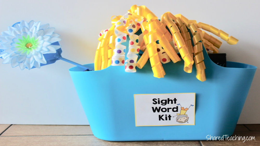 Sight Word Kit to raffle off during the sight word parent night.