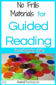 No Frills Materials for Guided Reading