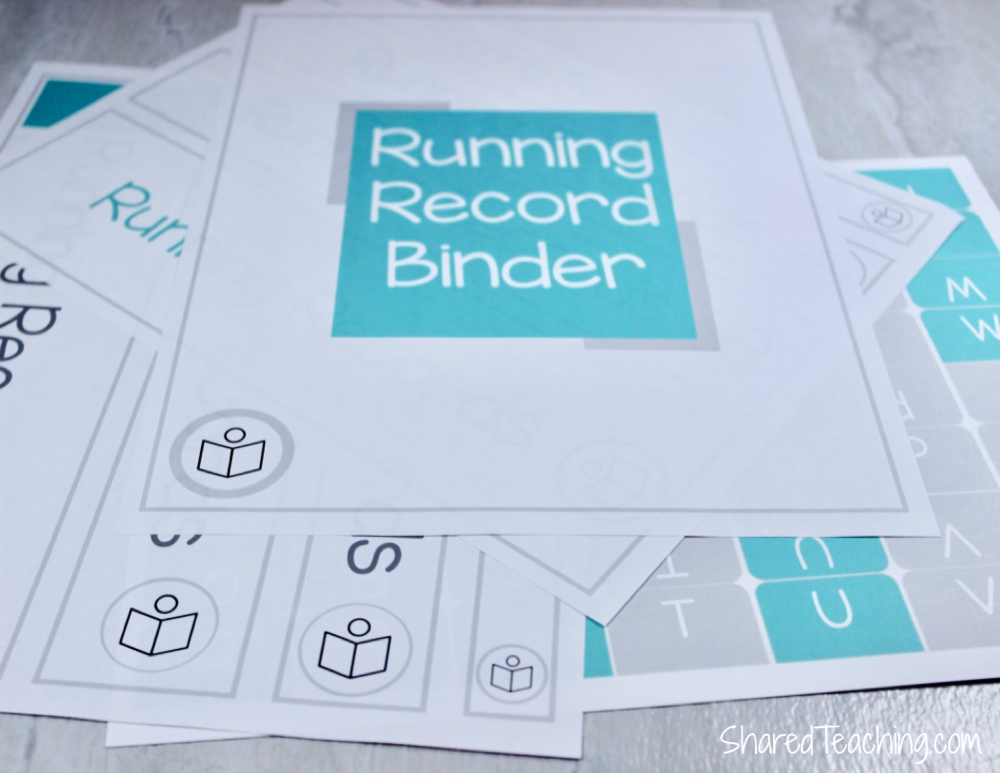 Looking for ways to organize your running records? Organizing is easy with these free binder templates to set up a running record binder for your classroom. #runningrecords #guidedreading #firstgrade #kindergarten