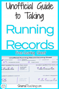 Taking Running Records: The Unofficial Guide