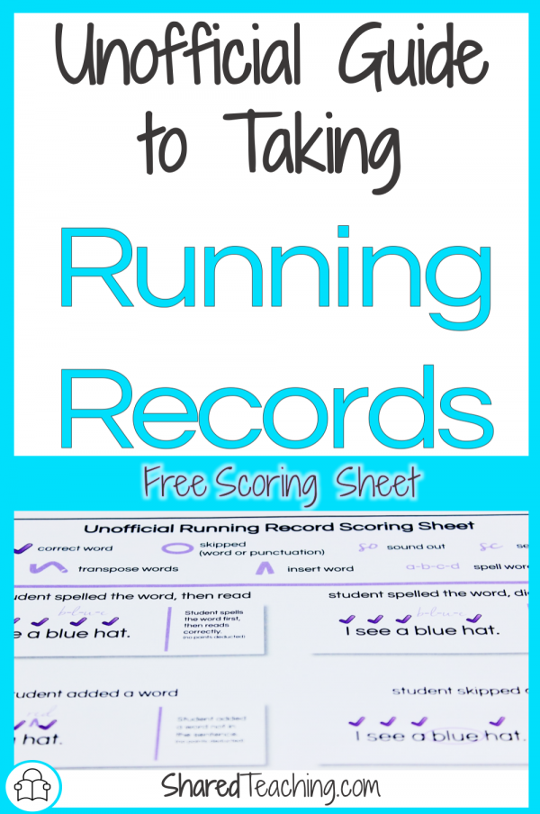 Unofficial Guide to Taking Running Records | Learn my shortcuts to taking a non-formal running record in order to set up or move students around in guided reading groups. Plus receive a free scoring sheet to print and reference.
