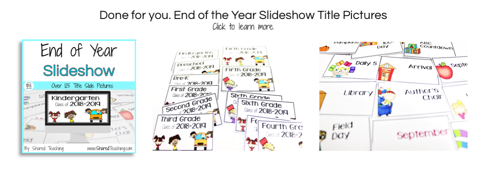 30 Best End of Year Songs for Classroom Slideshows | Shared Teaching