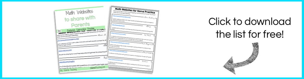 math websites free printable sign up