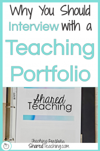 5 Reasons Why You Should Interview with a Teaching Portfolio