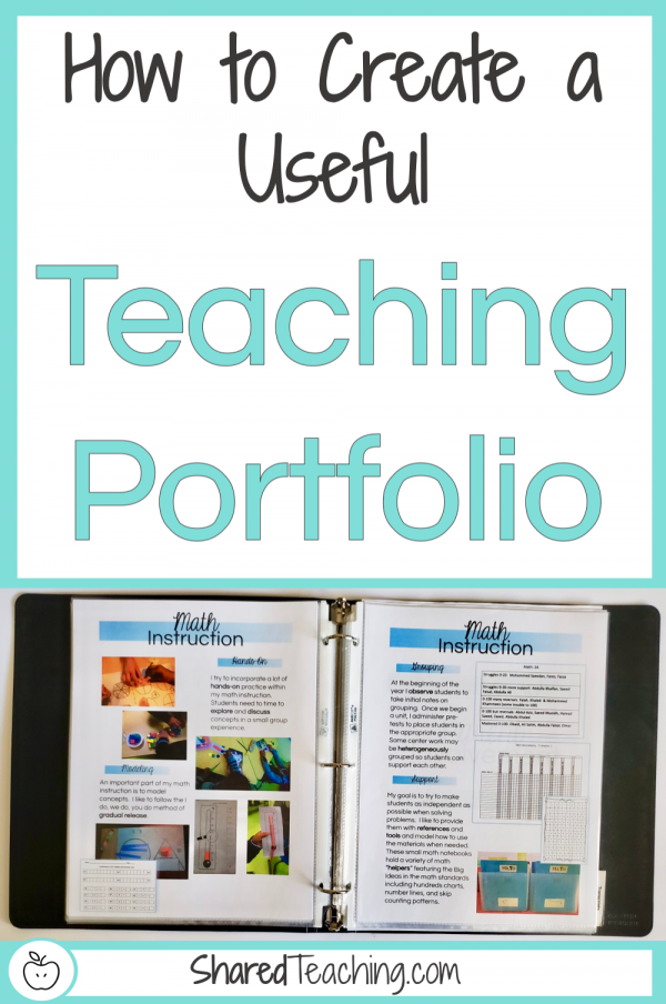 How to create a useful teaching portfolio | Take a peek inside my actual portfolio I use on my job interviews and learn how to create your own easily.