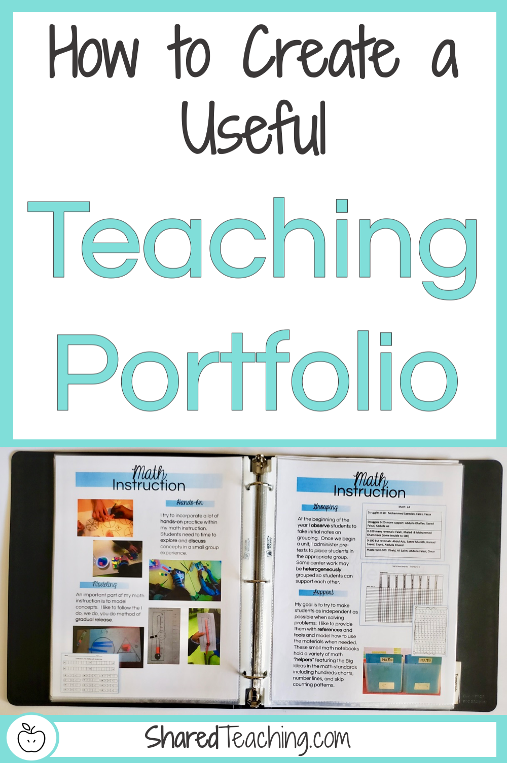 How to create a useful teaching portfolio   Take a peek inside my actual portfolio I use on my job interviews and learn how to create your own easily.