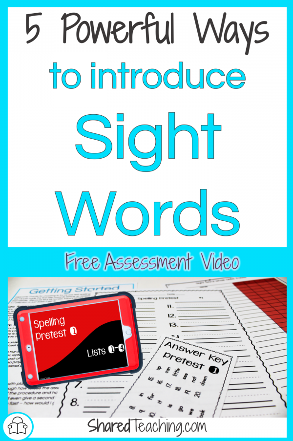 Powerful Ways to Introduce Sight Words