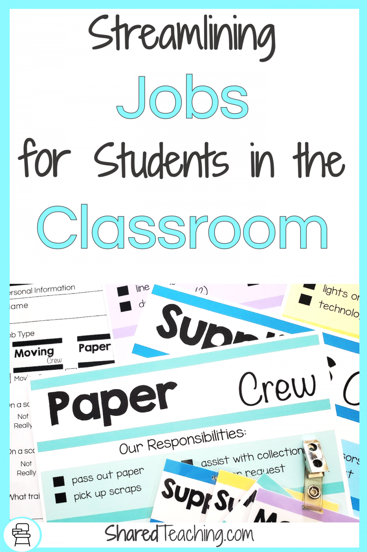 Jobs for students in the classroom title page