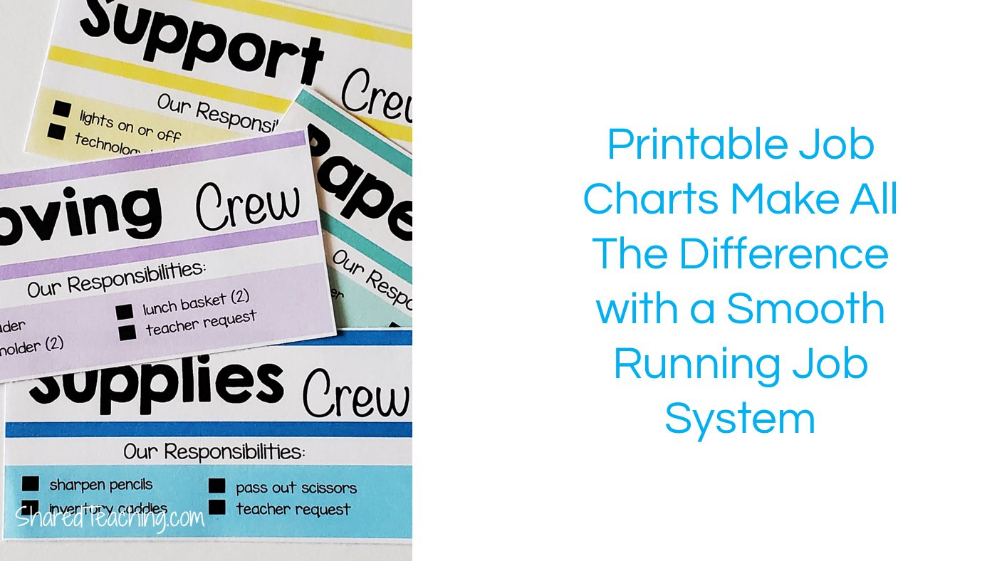 These printable classroom job charts help to make a smooth running classroom job system.