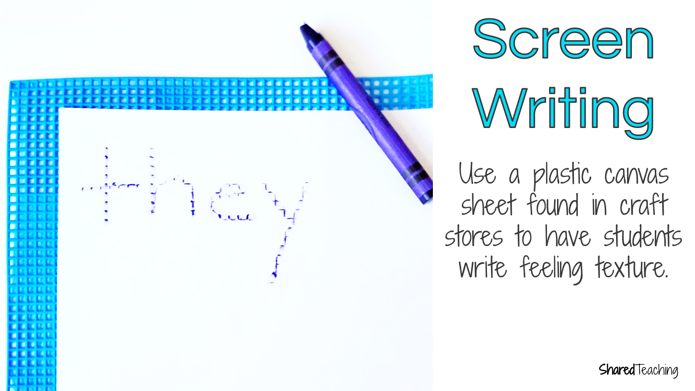 Introduce sight words by having students write on a screen with a crayon.