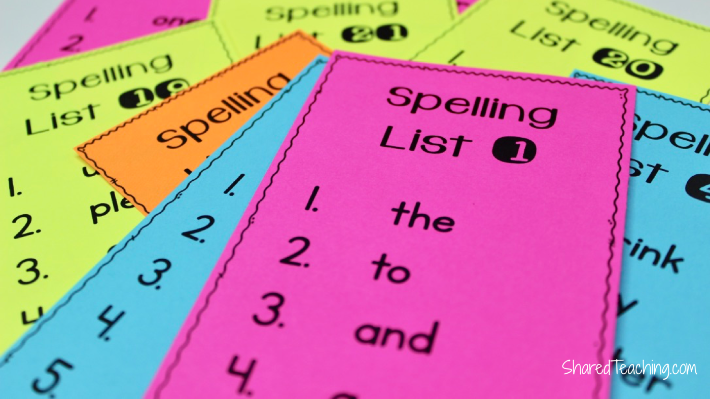 Students have individualized spelling lists to study.