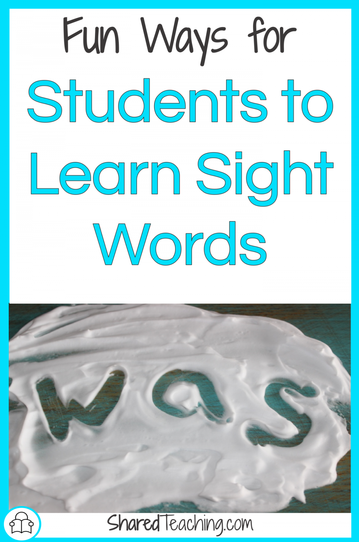 How to learn sight words in a fun way title image